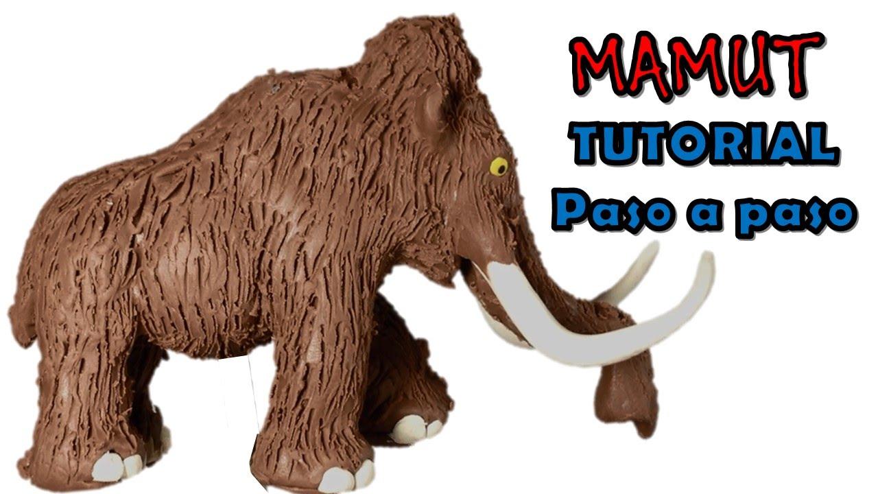 Como Hacer Un Mamut De Plastilina How To Make A Mammoth With Clay Como Hacer Plastilina Manualidades
