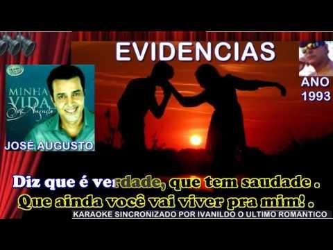 Evidencias - José Augusto - Karaoke