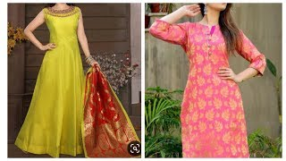 Convert old Banarasi saree into kurti,refashion old cloth,reuse old saree,repurpose old saree