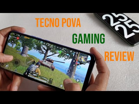 Tecno POVA PUBG gaming review and battery drain test with FPS meter