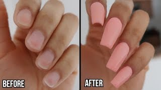HOW TO DO DIP POWDER NAILS WITH TIP AT HOME | Revel Nail