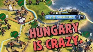 Hungary is Actually Beyond Insane - Civilization VI Gathering Storm