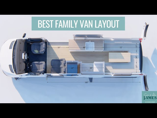 BEST FAMILY VAN LAYOUT | how to design a van conversion for a family to sleep and seat 4