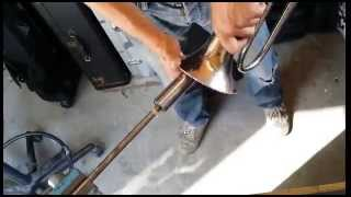Brass instrument repair - Flugelhorn bent bell repair