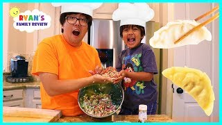 Kid Size Cooking Making Gyoza Japanese Dumpling with Ryan