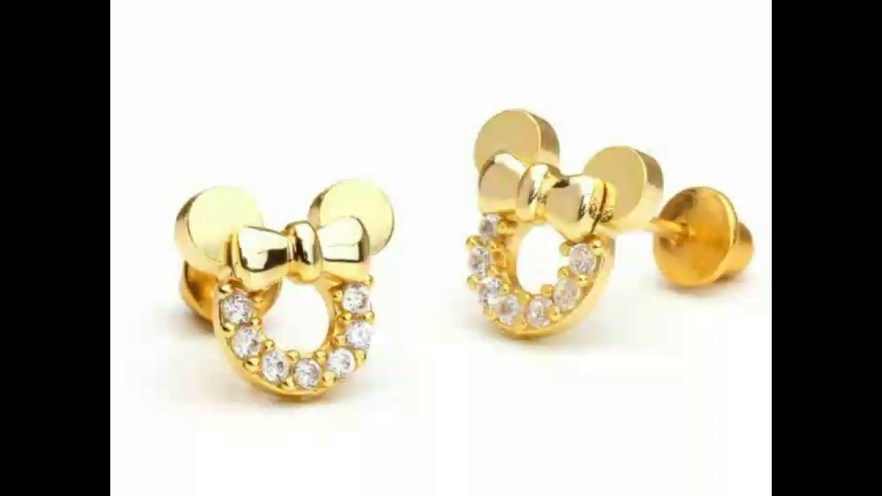 Gold Baby Children Earrings