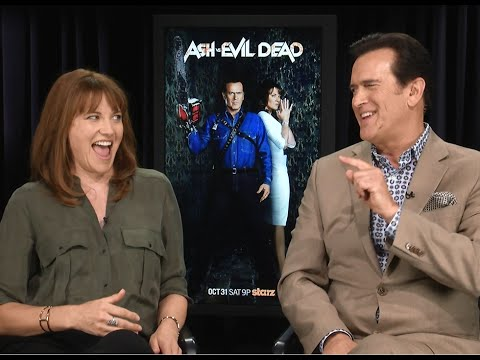 Hilarious Ash vs. Evil Dead Interview with Bruce Campbell & Lucy Lawless!