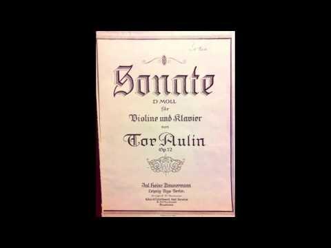 Tor Aulin :Sonata for Violin &...