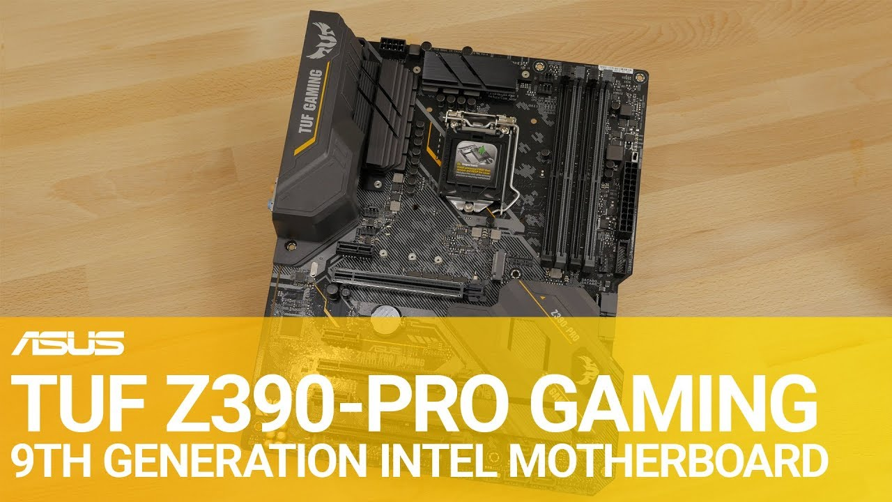 TUF Z390 PRO GAMING 9th Gen Intel Motherboard Overview