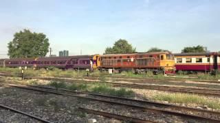 Thai Railway รถไฟ หพุ Hitachi/Alsthom Locomotive Coupled and Coupling at Bangsue Juntion
