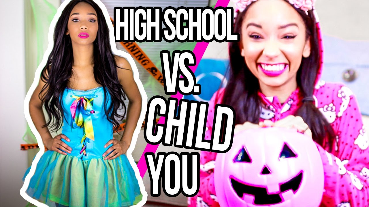Halloween: High School You vs Child You - YouTube