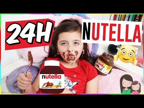 24h Nutella Challenge 💪 1 Tag ALLES mit Nutella essen 🤪 Alles Ava