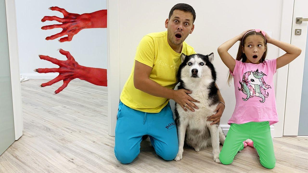 История про МОНСТРА под КРОВАТЬЮ!! Sofia and the strange guest under the bed