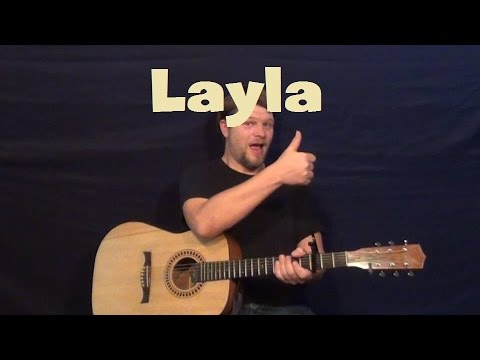 Layla (Eric Clapton) Guitar Lesson Strum Chords Licks Fingerstyle How to Play Tutorial