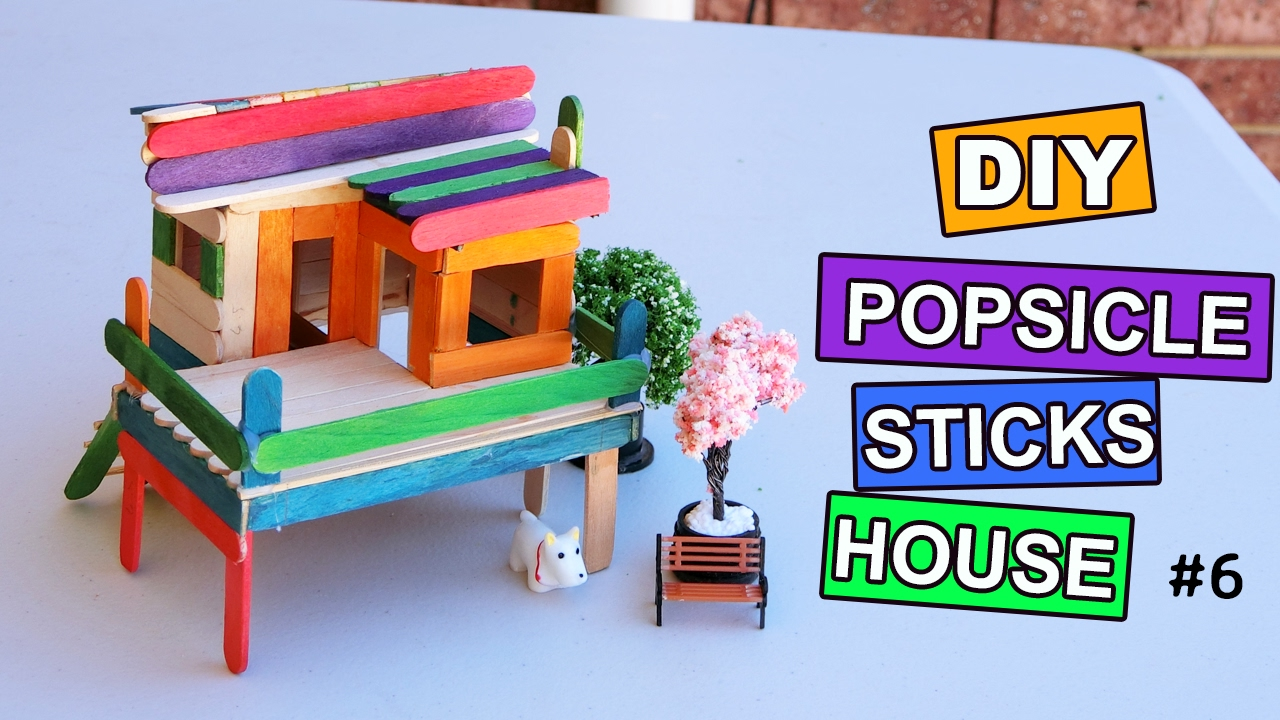 diy popsicle sticks fairy house #6: tutorial - youtube