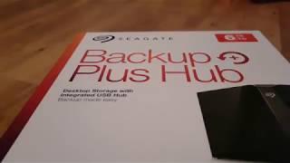 Seagate 6TB Backup Plus Hub Unboxing