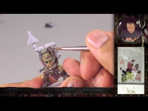 "PBCC 001 ""Ork Burna Boy"" Part 1: How to paint an Ork's green skin"
