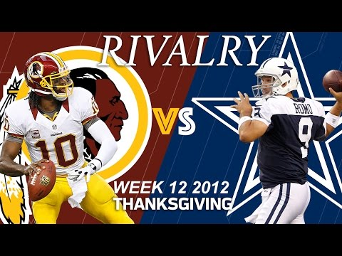 Redskins vs. Cowboys (Week 12, 2012) | RGIII Shines on Thanksgiving | Classic Game Highlights | NFL