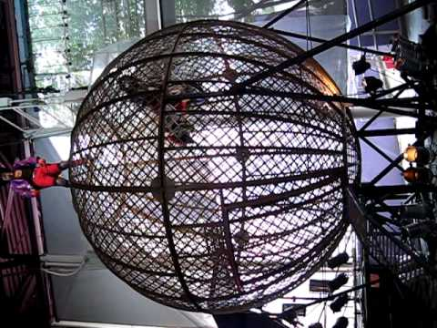 Mat Hoffman's Aggro-Circus at Universal Studios - One rider in a ball cage