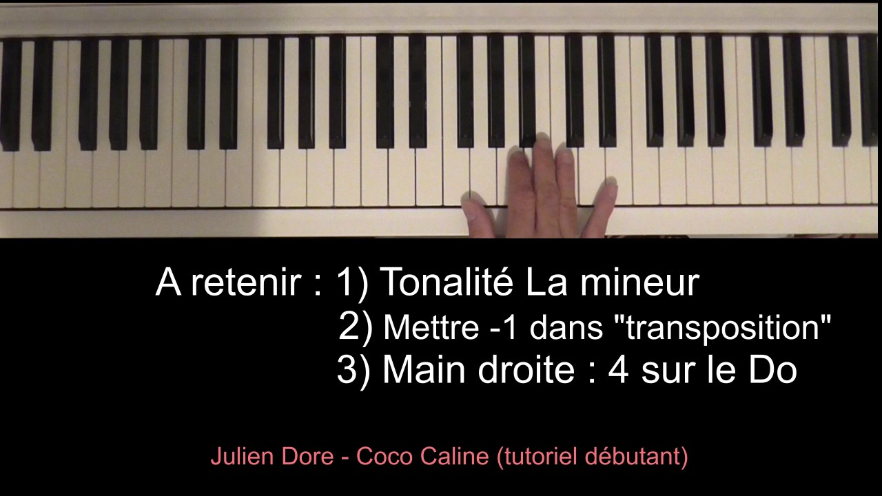 julien dore coco caline piano tutoriel youtube. Black Bedroom Furniture Sets. Home Design Ideas