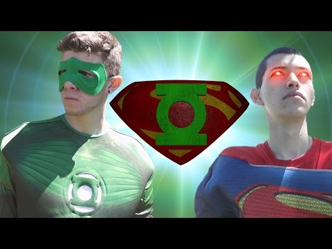 Green Lantern vs Superman in real life (Full Fight / Live Action Superhero Death Battle)