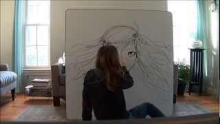 White Board Anime Drawing