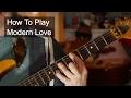 ''Modern Love' David Bowie Guitar Tutorial