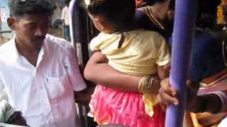 Bus ride from Puducherry to Chennai People cram in through the front door