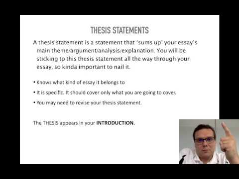 Literary Essays  Thesis Statements  Youtube Literary Essays  Thesis Statements