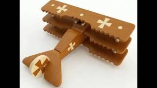 3d Model Toy Airplane Wooden Fokker Dr1