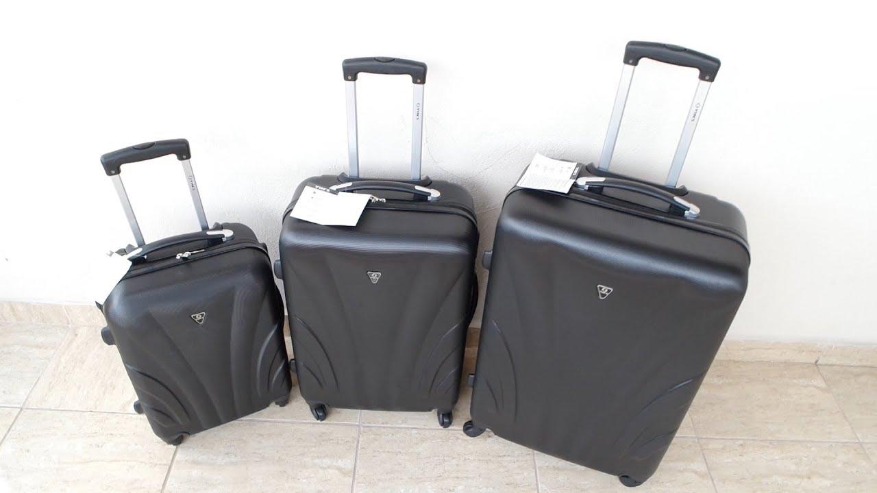 8925939c02 Yins conjunto de malas viagem 3 peças ABS unboxing visão detalhada YS01009P  dica