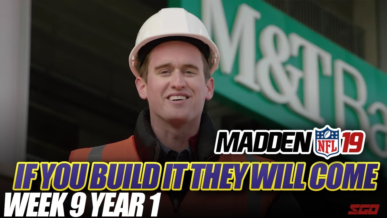 Madden 19 Connected Franchise   If You Build it They Will Come! Week 9 Ravens vs Steelers   Ep.9