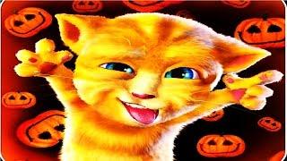 Говорящий рыжий кот Джинджер #11 Открываем пазлы Мультик игра для детей #Мобильные игры