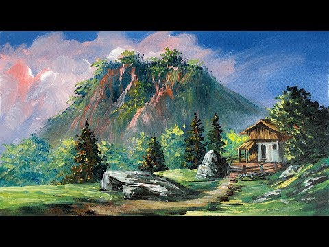 Realistic Landscape Acrylic Painting Painting With Oil Paints