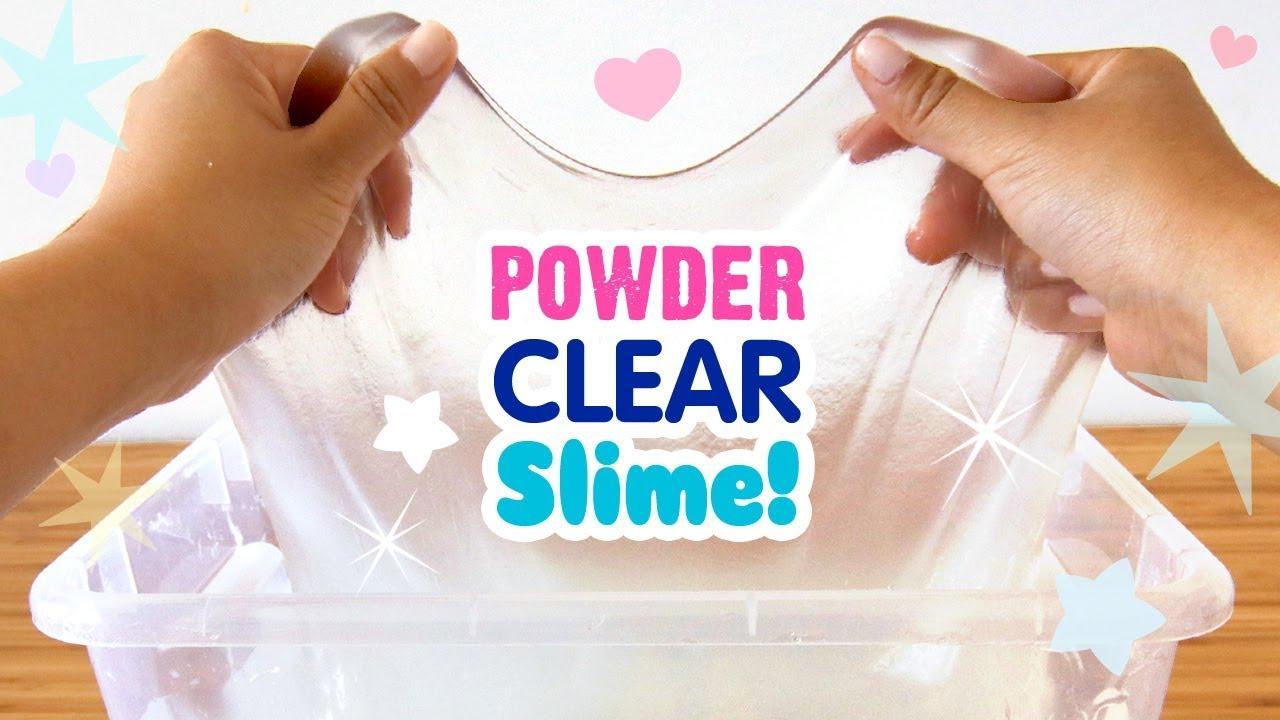 1ce93c05c DIY CRYSTAL CLEAR Powder Slime!!! QUICK METHOD, NO BORAX!! DIY Giant Clear  Slime