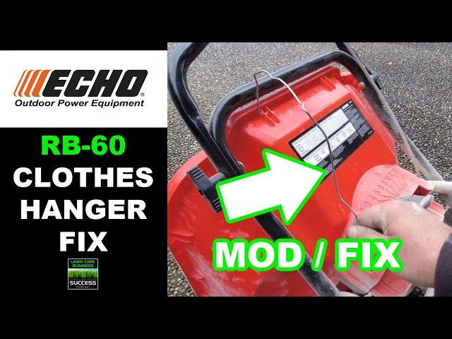 ECHO RB-60 Spreader | Clothes Hanger Modification Fix