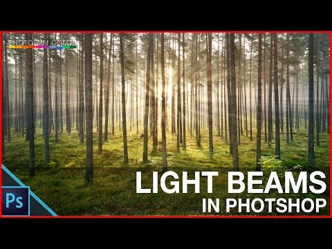 How to create Photoshop Light Beam tutorial - Photoshop Light Rays