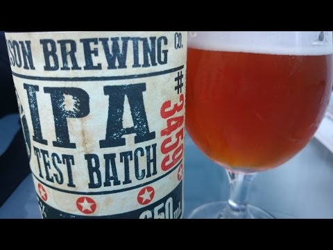 Garrison Test Batch #3459 IPA - #703 - Maxwell Starr's Beer Review