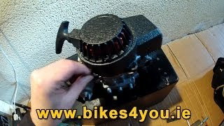 How to Instal Easy Pull Start incl. Fywheel to your Pocketbike in less then 10minutes