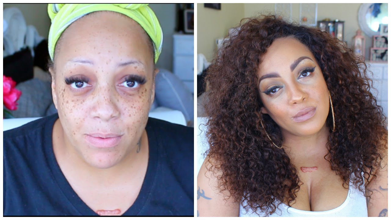 Before & After FULL FACE USING ONLY B.O.M.B (Black Owned Makeup Brands) - YouTube