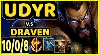 UDYR vs DRAVEN - 10/0/8 KDA JUNGLE GAMEPLAY - EUW Ranked MASTER