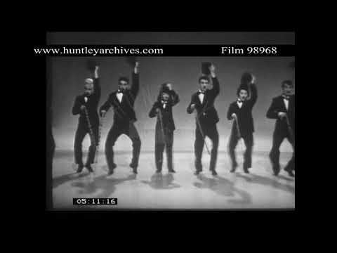 Charlie Chaplin Dance Routine from 1960's TV Show.  Archive film 98968