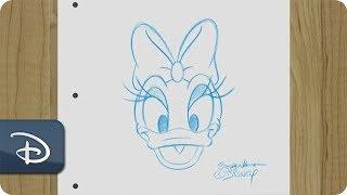 How-To Draw Daisy Duck | Disney Parks