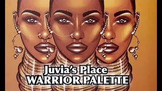 NEW JUVIA'S PLACE WARRIOR EYESHADOW PALETTE | REVIEW & TUTORIAL | Fumi Desalu-vold