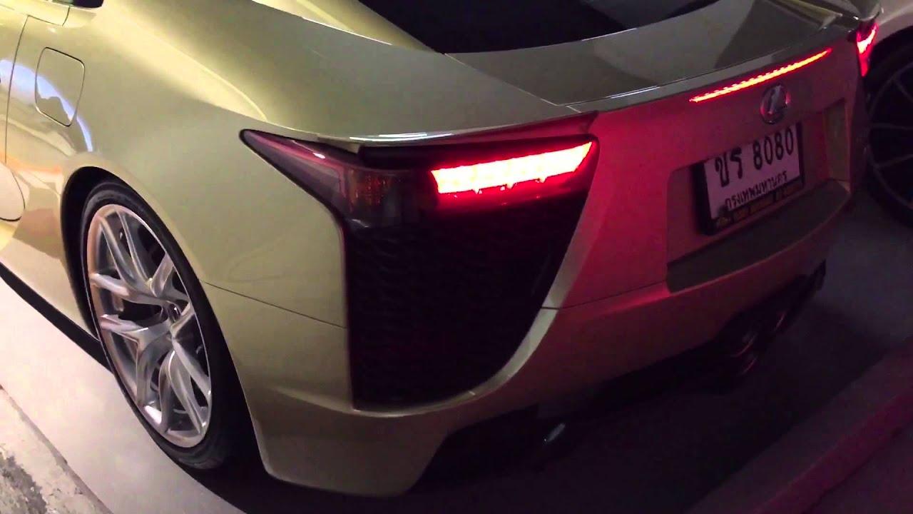 Rare Crystal Gold Lexus LFA Startup Driving Idea