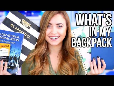 What's In My Backpack 2017 for College!