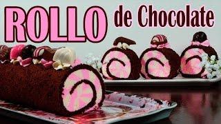 Rollo de chocolate relleno de dos colores
