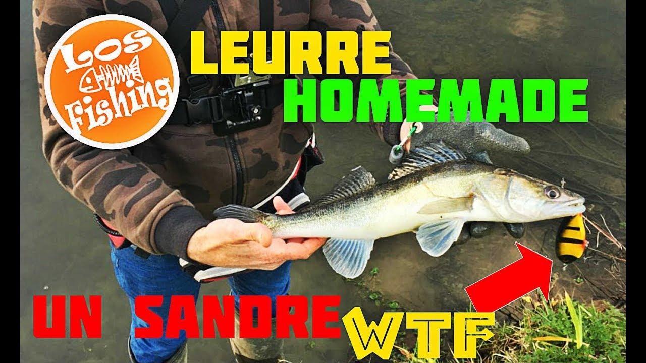 Pêcher avec un leurre fait maison !!!belle surprise !!! - YouTube