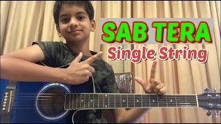 Sab Tera  Single String  Easy Guitar Tabs  Easy Guitar Tutorials  Crimson Learning