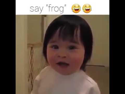 Funny Baby Saying FROG